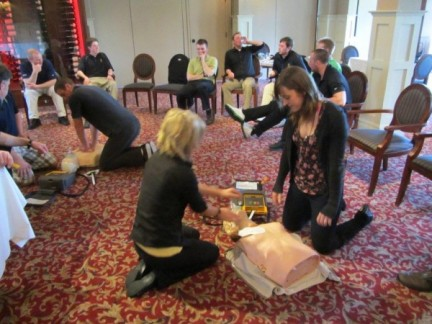 CPR Training of Victoria Golf Club staff